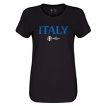 Italy Euro 2016 Core Womens T-Shirt (Black)