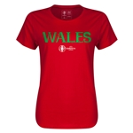 Wales Euro 2016 Core Womens T-Shirt (Red)