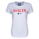 Wales Euro 2016 Core Womens T-Shirt (White)