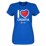 Ceoatia Euro 2016 Heart Womens T-Shirt (Royal)
