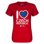 Czech Republic Euro 2016 Heart Womens T-Shirt (Red)