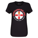 Northern Ireland Euro 2016 Core Womens T-Shirt (Black)