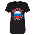 Russia Euro 2016 Core Womens T-Shirt (Black)