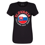 Slovakia Euro 2016 Core Womens T-Shirt (Black)