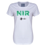 Northern Ireland Euro 2016 Elements Womens T-Shirt (White)