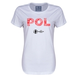Poland Euro 2016 Elements Womens T-Shirt (White)