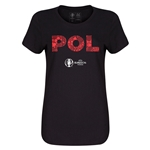Poland Euro 2016 Elements Womens T-Shirt (Black)