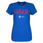 Russia Euro 2016 Elements Womens T-Shirt (Royal)