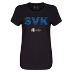 Slovakia Euro 2016 Elements Womens T-Shirt (Black)