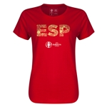 Spain Euro 2016 Elements Womens T-Shirt (Red)