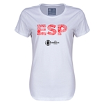 Spain Euro 2016 Elements Womens T-Shirt (White)