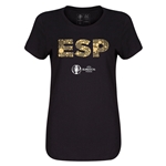 Spain Euro 2016 Elements Womens T-Shirt (Black)