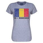 Romania Euro 2016 Core Womens T-Shirt (Grey)