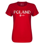 Poland Euro 2016 Core Womens T-Shirt (Red)