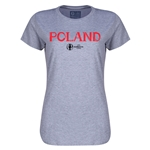 Poland Euro 2016 Core Womens T-Shirt (Grey)