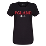 Poland Euro 2016 Core Womens T-Shirt (Black)