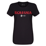 Romania Euro 2016 Core Womens T-Shirt (Black)