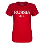 Russia Euro 2016 Core Womens T-Shirt (Red)