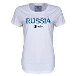 Russia Euro 2016 Core Womens T-Shirt (White)
