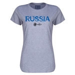 Russia Euro 2016 Core Womens T-Shirt (Grey)