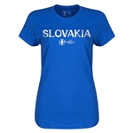 Slovakia Euro 2016 Core Womens T-Shirt (Royal)