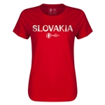 Slovakia Euro 2016 Core Womens T-Shirt (Red)