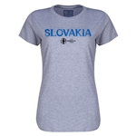 Slovakia Euro 2016 Core Womens T-Shirt (Grey)