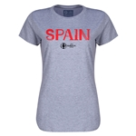 Spain Euro 2016 Core Womens T-Shirt (Grey)