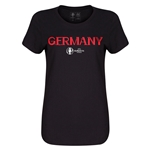 Spain Euro 2016 Core Womens T-Shirt (Black)