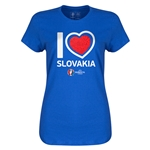 Slovakia Euro 2016 Heart Womens T-Shirt (Royal)