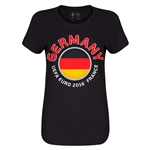 Germany Euro 2016 Core Womens T-Shirt (Black)