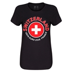 Switzerland Euro 2016 Core Womens T-Shirt (Black)