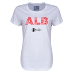 Albania Euro 2016 Elements Womens T-Shirt (White)