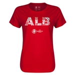 Albania Euro 2016 Elements Womens T-Shirt (Red)