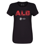 Albania Euro 2016 Elements Womens T-Shirt (Black)