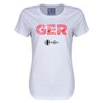 Germany Euro 2016 Elements Womens T-Shirt (White)