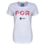 Portugal Euro 2016 Elements Womens T-Shirt (White)