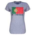 Portugal Euro 2016 Core Womens T-Shirt (Grey)