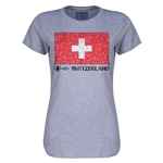 Switzerland Euro 2016 Core Womens T-Shirt (Grey)