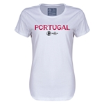 Portugal Euro 2016 Core Womens T-Shirt (White)