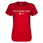 Switzerland Euro 2016 Core Womens T-Shirt (Red)