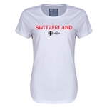 Switzerland Euro 2016 Core Womens T-Shirt (White)