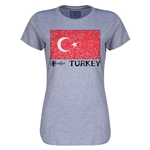 Turkey Euro 2016 Core Womens T-Shirt (Grey)