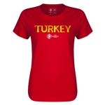 Turkey Euro 2016 Core Womens T-Shirt (Red)