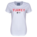 Turkey Euro 2016 Core Womens T-Shirt (White)