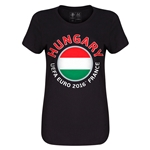 Hungary Euro 2016 Core Womens T-Shirt (Black)