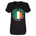 Ireland Euro 2016 Core Womens T-Shirt (Black)
