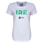 Ireland Euro 2016 Elements Womens T-Shirt (White)