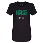 Ireland Euro 2016 Elements Womens T-Shirt (Black)