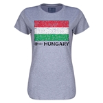 Hungary Euro 2016 Core Womens T-Shirt (Grey)
